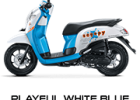 playful white blue scoopy new 2017 trans