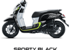 sporty black scoopy new 2017 trans